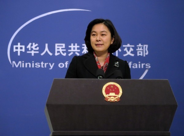 中國外交部發言人華春瑩。(資料照,中央社)