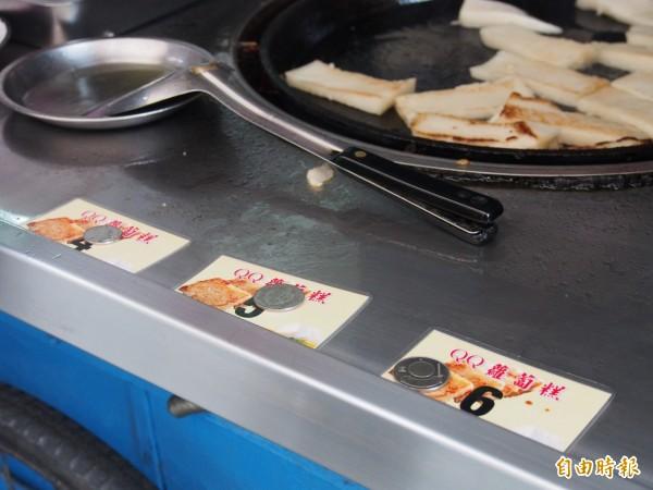 老闆鄭貴松有一套紀錄點餐的方式。(記者王秀亭攝)