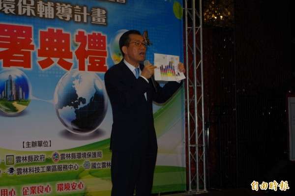 環保署長李應元表示,環保署將與水利署等單位全力合作,治理濁水溪揚塵。(記者林國賢攝)