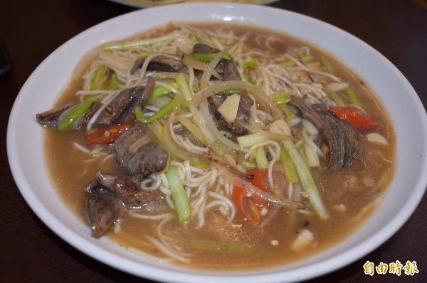 酸甜滋味與鮮脆的鱔魚,最能彰顯傳統台菜的原汁原味。(記者張瑞楨攝)