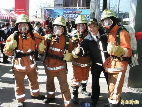 竹市消防戰力大提升,276員額創歷年新高。(資料照,記者蔡彰盛攝)