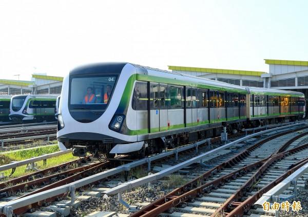 台中捷運綠線將在今年底試運轉,未來將延伸至彰化。(記者張菁雅攝)