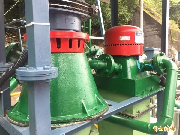 台電首座微水力設施於老牌立霧電廠誕生。(記者林菁樺攝)