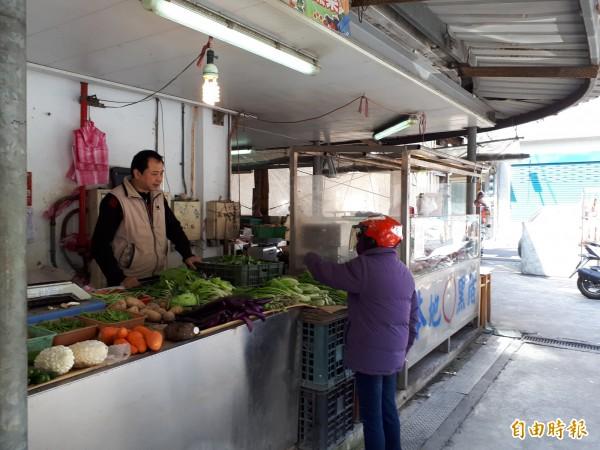 新竹市北門市場因建物老舊加上耐震係數不足,市府決定拆除重建。(記者洪美秀攝)