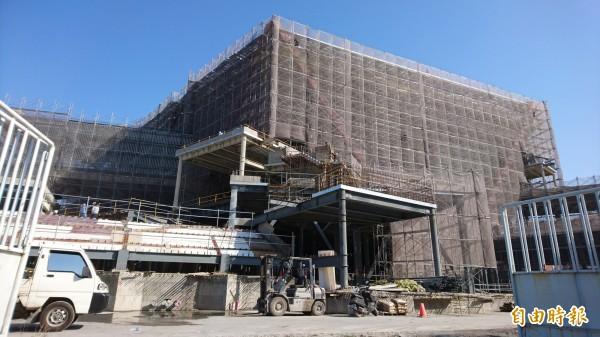 台南美術館興建中。(記者洪瑞琴攝)