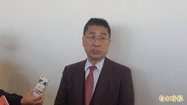 行政院發言人徐國勇受訪表示,行政院長賴清德不會干涉或介入初選,這些都是謠傳。(記者丁偉杰攝)