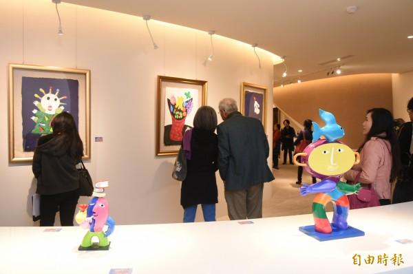 西班牙國寶級藝術大師皇.雷普耶斯,生活在藝術氛圍濃厚的西班牙,藝術品存在於生活周遭的環境。(記者張忠義攝)