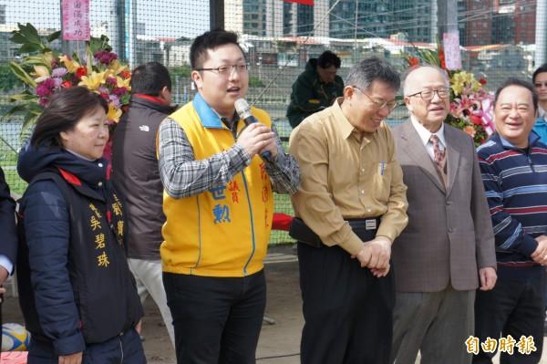 台北市長柯文哲今天澄清對先總統蔣經國的評語。(記者黃建豪攝)