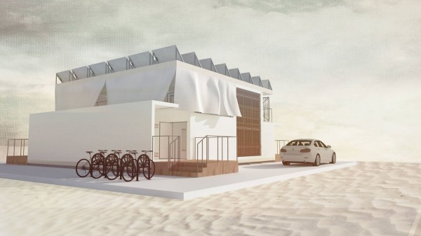 交通大學跨領域團隊研發設計智慧能源屋,今年將進軍杜拜建造智慧屋。(照片由交大團隊提供)