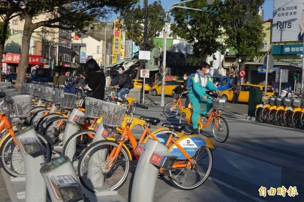 就是明天!彰化公共自行車(YouBike)將可打破1000萬使用人次!(記者劉曉欣攝)