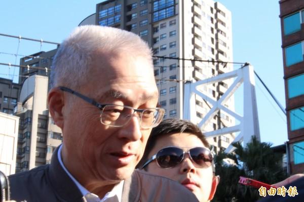 國民黨主席吳敦義出席蔣經國逝世30週年路跑。(記者邱書昱攝)