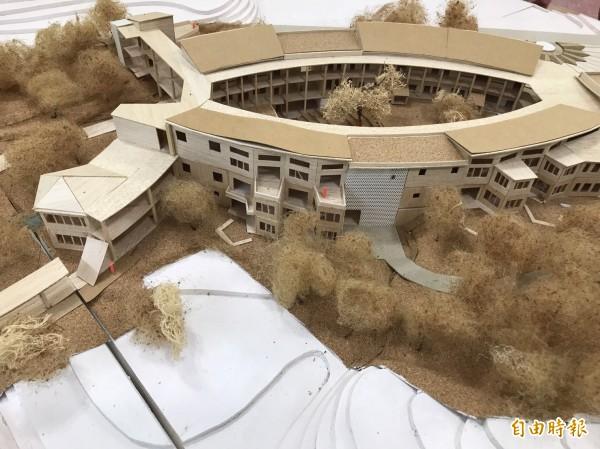 新竹市政府啟動新校園運動,今年將有8所學校的校舍要改建,透過建築團隊評選,引進優秀團隊,要打造學生的知識遊樂地,所有校園設計圖都經過多次討論,並以學生為學習主角設計,圖為校舍改建示意圖。(市府提供)