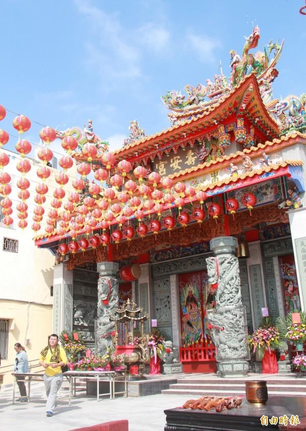 北斗壽安宮新廟整建落成,4日將迎請開基媽祖入火安座。(記者陳冠備攝)