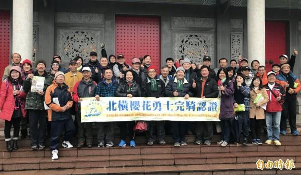 北橫櫻花勇士完騎認證2月17日至3月18日登場。(記者李容萍攝)