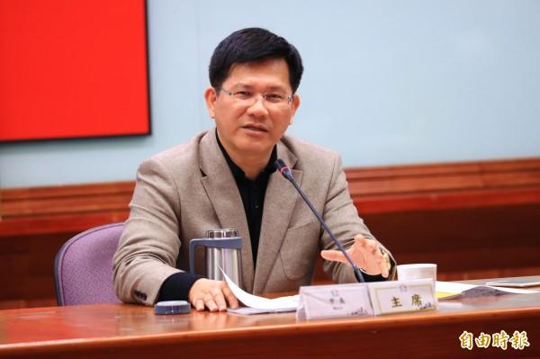台中市長林佳龍表示,台中就是台中,我們不是要走別人的路,台中在創新中,要走出台灣的路。(記者歐素美攝)