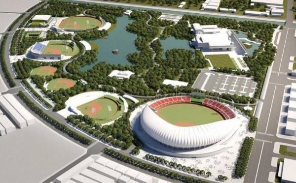台南亞太國際棒球訓練中心模擬圖。(記者洪瑞琴翻攝)