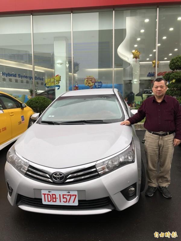 新竹縣市第一家經政府評選合格的金立計程車隊,本月份正式發表上路。(記者王駿杰攝)