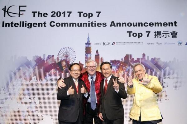 嘉義市去年獲選全球TOP 7智慧城市,市長涂醒哲親自出席揭示典禮。(資料照)