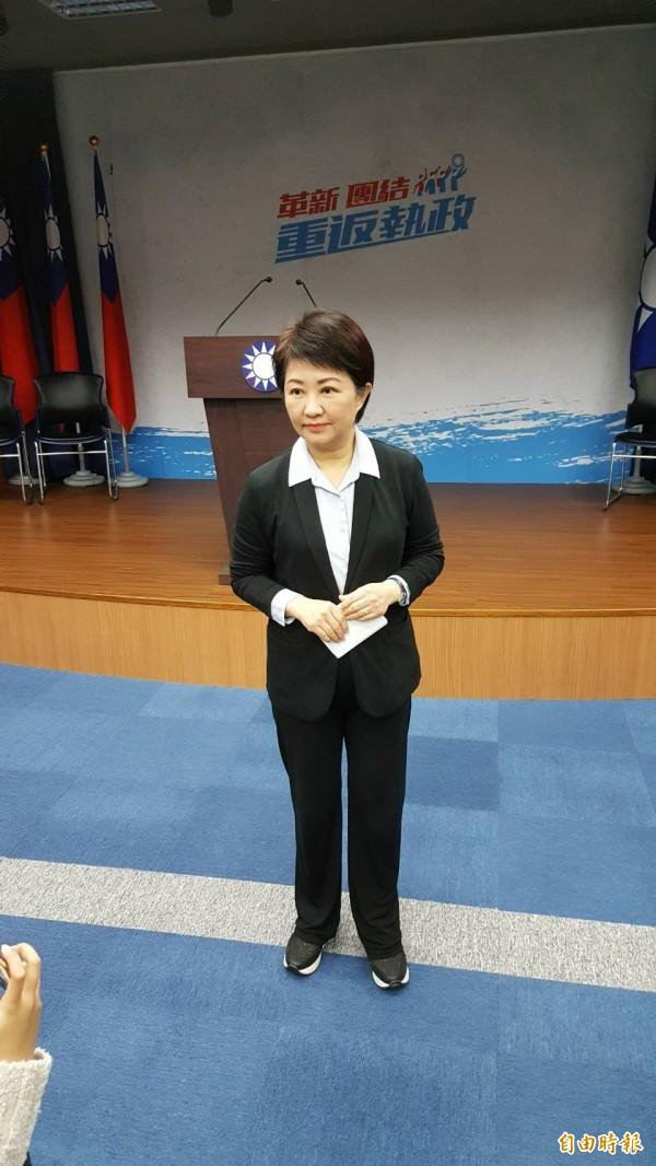 國民黨台中市長初選民調,結果由立委盧秀燕勝出。(記者施曉光攝)