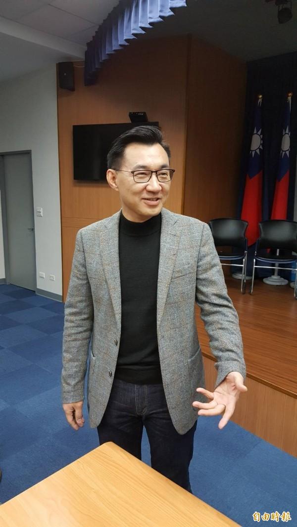 國民黨立委江啟臣表示尊重民調結果,但對是否接受出任盧秀燕競選總幹事,未正面表態。(記者施曉光攝)