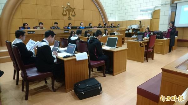 士林地院舉辦模擬「國民法官」加入審理北捷隨機砍人案。(記者黃捷攝)