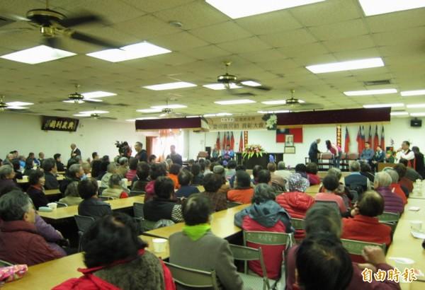 花壇鄉農會今天舉行農民節慶祝大會,現場熱鬧萬分。(記者湯世名攝)
