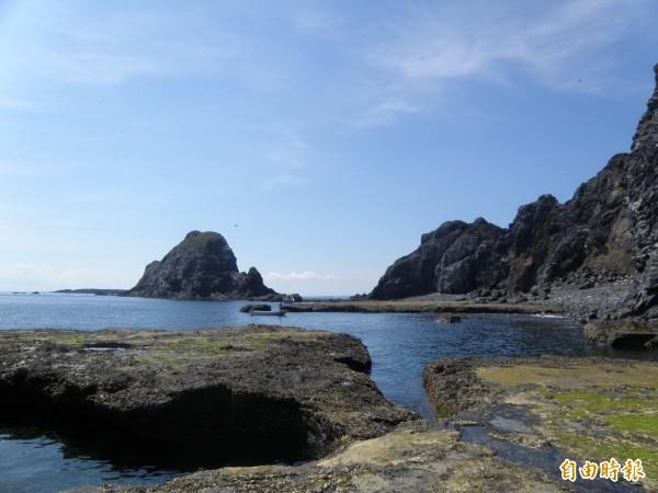 澎湖大小貓嶼風光明媚,設立海鳥保護區建立生態天堂。(記者劉禹慶攝)