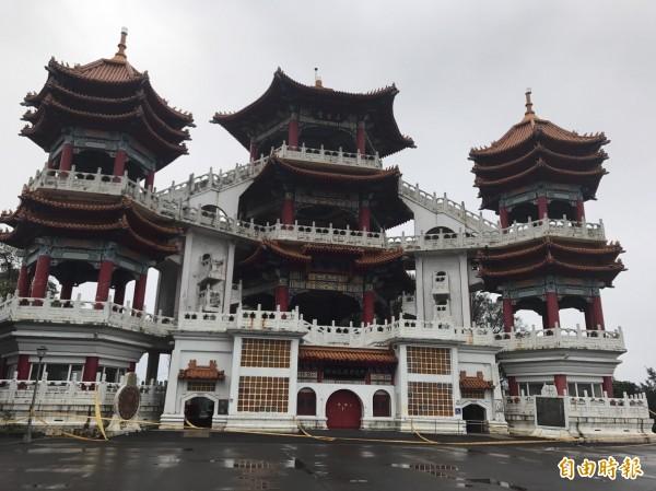 基隆中正公園的主普壇是中元祭重要祭典場所。(記者盧賢秀攝)