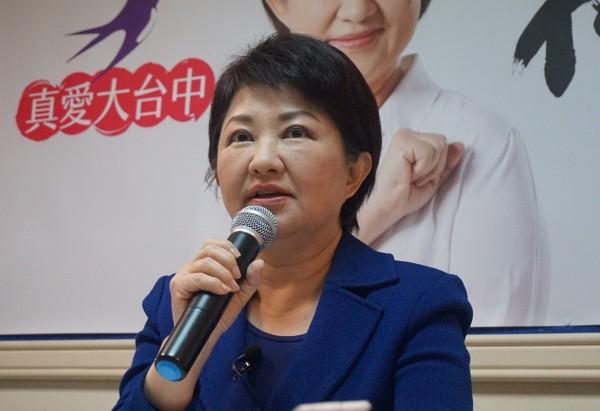 盧秀燕贏得國民黨市長民調初選。(盧秀燕總部提供))