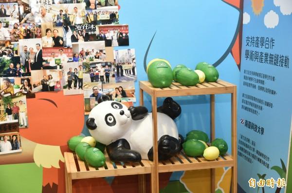 健茂生技的產學合作,讓學生文化創意搭配企業品牌行銷,在世界各國有機會亮相,讓台灣學子走向國際發揮軟實力。 (記者張忠義攝)