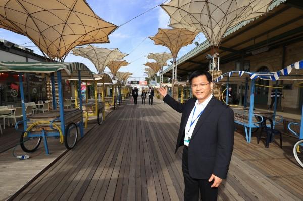 林佳龍參訪耶路撒冷觀光創新中心,考察以國舊城區新創產業發展。(台中市政府提供)