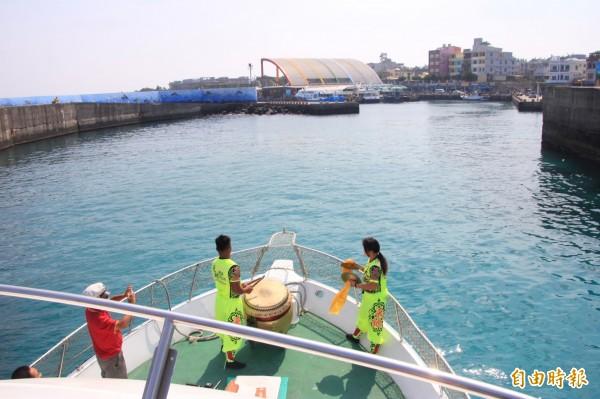 小琉球觀光港。(記者陳彥廷攝)