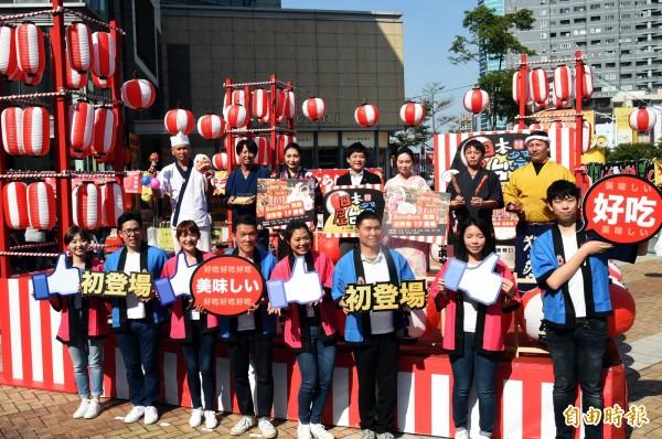 漢神巨蛋日本屋台展登場,好吃好逛好好玩。(記者張忠義攝)