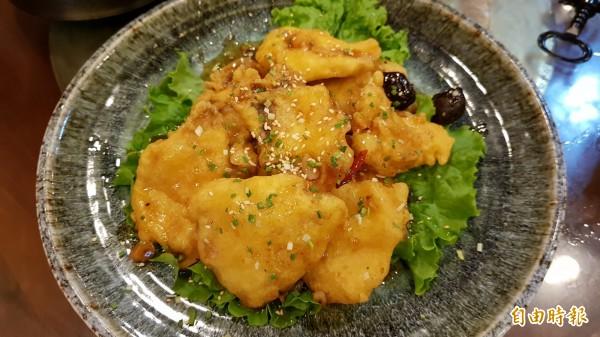 梅汁魚片。(記者彭健禮攝)