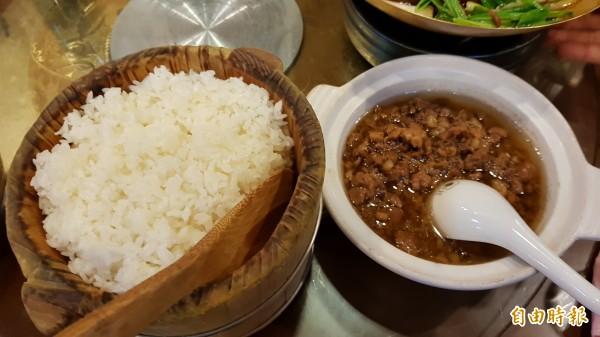 滷肉飯。(記者彭健禮攝)