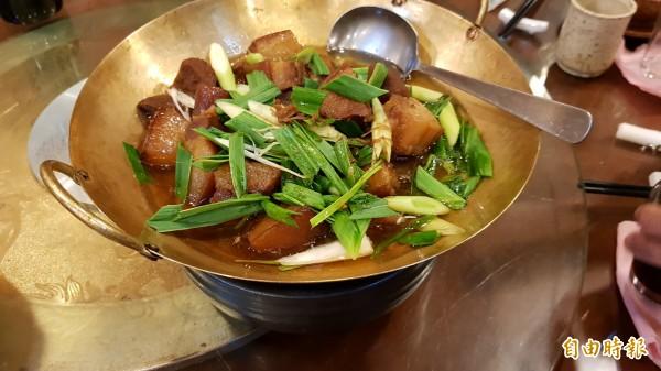 葱燒爌肉。(記者彭健禮攝)
