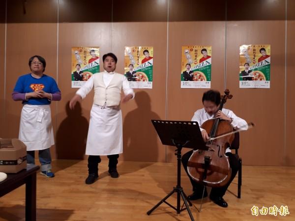 國際大提琴家張正傑又來「玩」音樂了!(記者洪美秀攝)