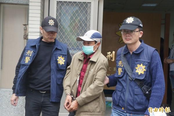 春節期間偷遍澎湖的潘姓越南漁工,在離境前夕遭逮捕到案。(記者劉禹慶攝)
