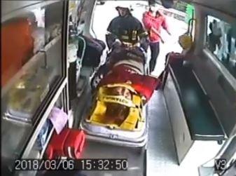 曾姓男子緊急送往醫院,但經搶救仍宣告不治。(記者鄭名翔翻攝)
