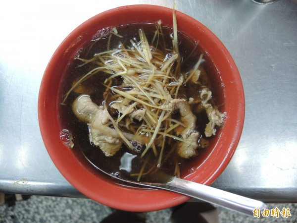 羊肉片湯。(記者翁聿煌攝)
