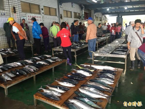 富岡魚市已全面改為魚貨不落地。(記者張存薇攝)
