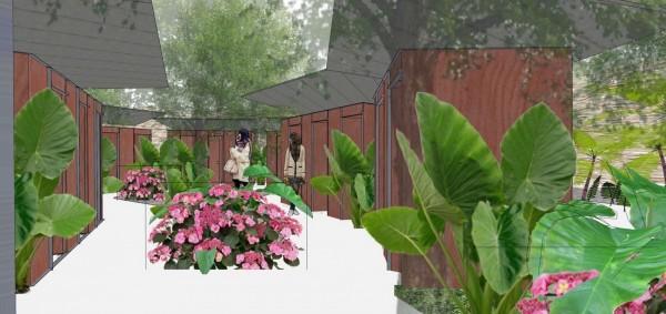 花豔館戶外園區景觀廁所模擬圖。(記者黃鐘山翻攝)