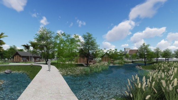 新北市史前文化教育園區納入考古、教育、生態、藝術與人文等元素。(十三行博物館提供)