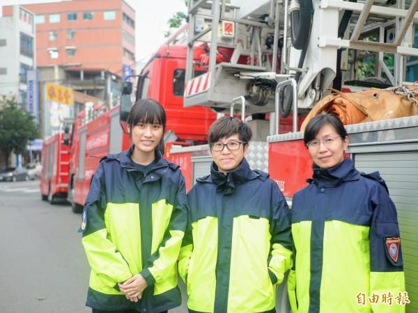 宜蘭消防女子力爆發,女消防員人數創新高。(記者簡惠茹攝)