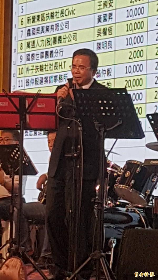 法務部政務次長蔡碧仲出席基金會成立大會。(記者丁偉杰攝)