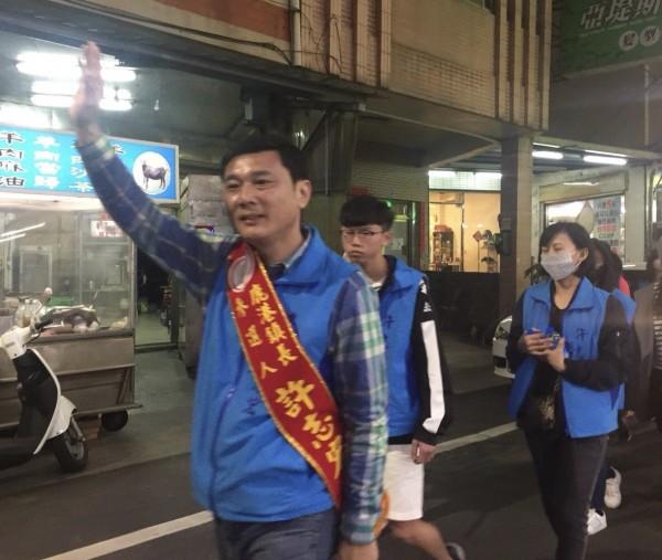 許志宏全力爭取國民黨鹿港鎮長提名。(許志宏提供)