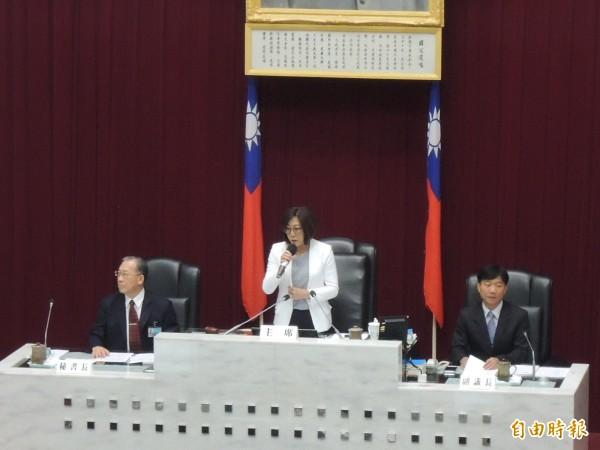 高市議長康裕成期許議會同仁堅持到任期最後一分一秒(記者王榮祥攝)