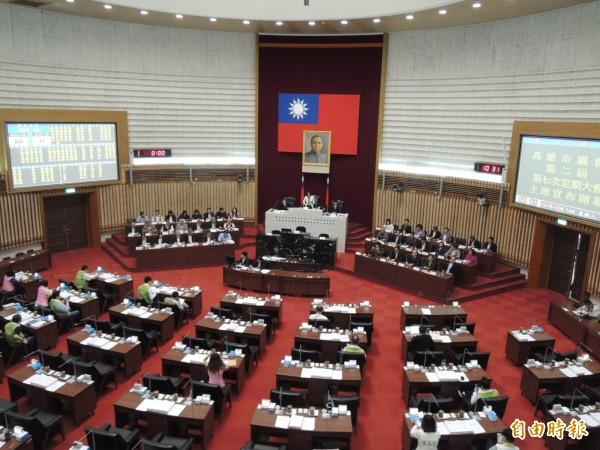 高市議會第二屆第七次大會今開幕(記者王榮祥攝)
