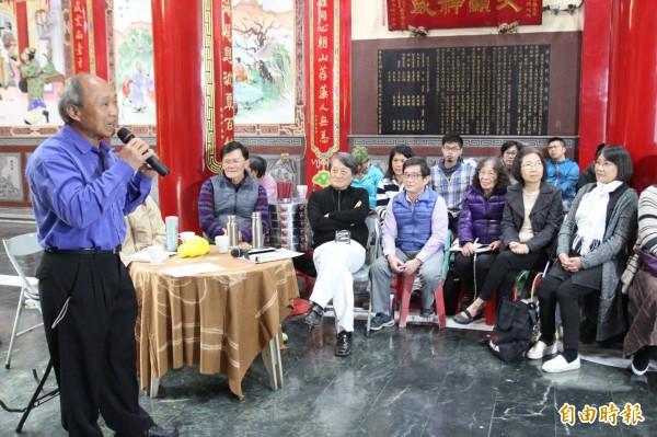 台江老中青三代同學,以台語、華語方式,吟詠自己為家鄉、親人所做的歌與詩詞。(記者邱灝唐攝)