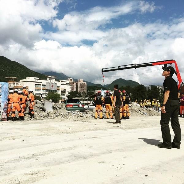 台北市消防局率先將火山災害納入防災演練項目,今天下午將在國防大學復興崗校區正式進行災害防救演習。(記者陳恩惠翻攝自臉書「YuSyuan Lin」)